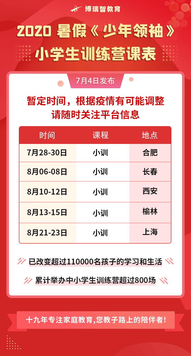 【2020年暑假】:博瑞智中小学生训练营全国火爆招生中……